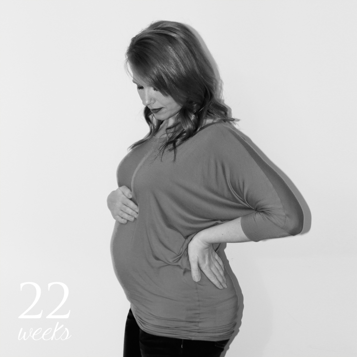 22 weeks pregnancy bump